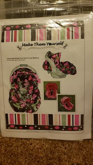 Infant car seat cover pattern for Sale in Moreno Valley, CA