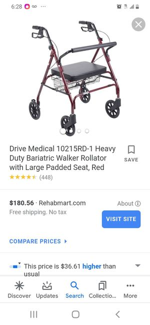 Drive Extra Wide Seat walker for Sale in Tampa, FL