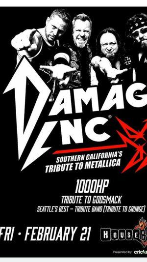 Damage Inc Concert Fri, 21, 2020 for Sale in Baldwin Park, CA