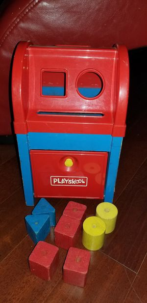 playskool mailbox wooden with pieces for Sale in West Bloomfield Township, MI
