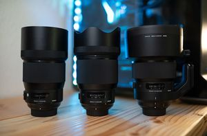 Sigma 135mm F/1.8, Sigma 105mm F/1.4, Sigma 85mm F/1.4 for Sale in Edgewood, MD