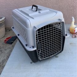 Medium size dog cage 28 inches long 20 inches wide and 21 inches high for Sale in Bakersfield,  CA