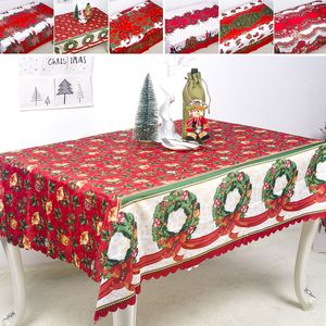 Christmas Tablecloth Holiday Decorative Table Cloth Cover Red Floral for Sale in Chino, CA