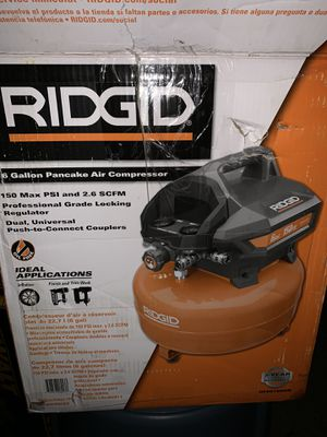 RIDGID 6 Gal. Portable Electric Pancake Air Compressor for Sale in Humble, TX