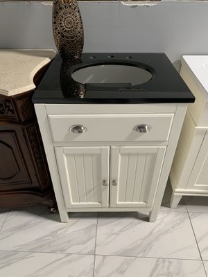 "24"" Solid Wood Single Sink Bathroom Vanity Cabinet with Granite Countertop for Sale in Fairfax, VA"