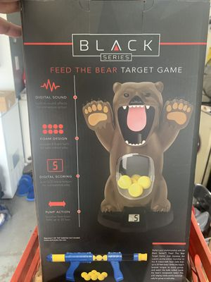Black bear kids shooting game (with balls and gun) for Sale in Port St. Lucie, FL