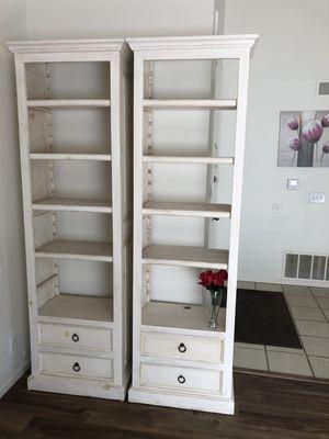 White book shelf cabinets for Sale in Santa Ana, CA