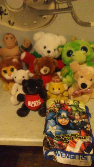 John Cena doll adventures pillow and book an eight stuffed animals 10 or best offer for Sale in Columbus, OH