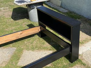 Wood bed frame twin xl black bedroom furniture for Sale in Azusa, CA