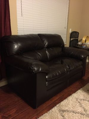 Leather couch and love seat for Sale in San Jose, CA