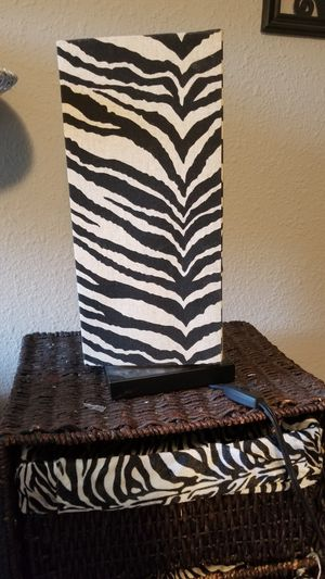 Zebra print lamp for Sale in East Wenatchee, WA