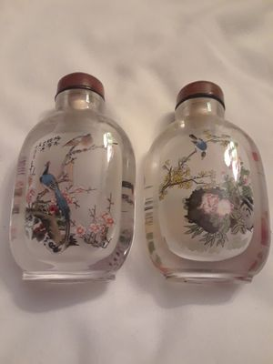 2 Antique Hand painted Chinese Perfum Bottles($80) for Sale in Glendale, AZ