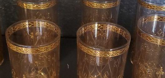 (8) 24kt Vintage Glassware. (6) Vintage Shot Glasses for Sale in Dallas,  TX