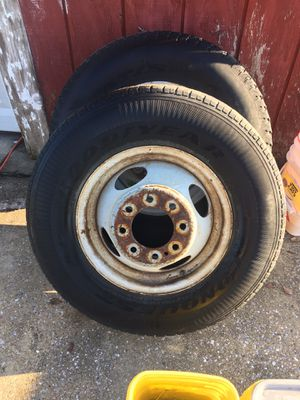 Two 8 lug wheel and tires came off a 1997 Chevy 3500 100.00 obo for Sale in Dundalk, MD
