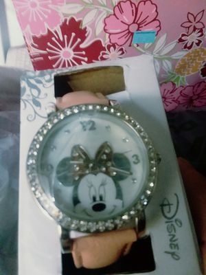 Pretty Minnie Mouse Watch With Crystals ** for Sale in The Bronx, NY