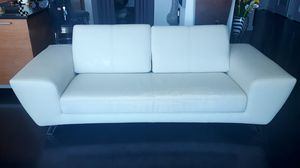 White Faux Leather Couch for Sale in Las Vegas, NV