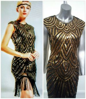 Gaspy / Flapper Gold / Beaded Seaquin dress for Sale in Whittier, CA