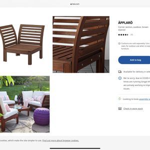 80% Off On IKEA Outdoor Sofa for Sale in Santa Monica, CA