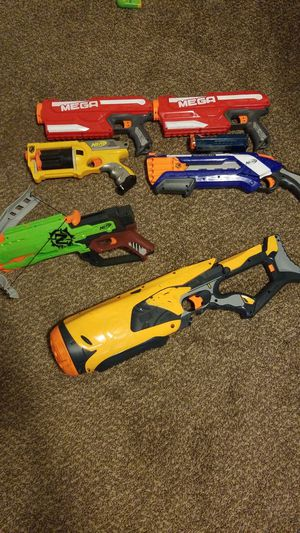 6 large nerf guns (make an offer) for Sale in Cottonwood Heights, UT