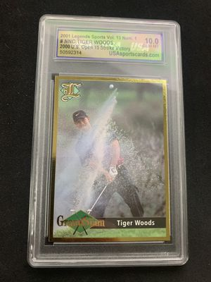 2001 TIGER WOODS GOLF SPORTS CARD - LEGENDS SPORTS VOL. 13 - GEM MT 10 - $65 for Sale in Roanoke, VA