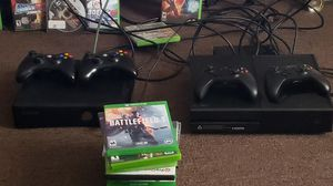 Xbox1 s , $275 an xbox 360 $175 an 65 games are $60 . If you buy all discount $400 for everthing. for Sale in Baltimore, MD