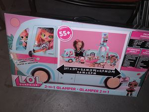 LoL Surprise Bus ! Never opened 2-in-1 Glamper Fashion Camper with 55+ for Sale in Glendale, AZ