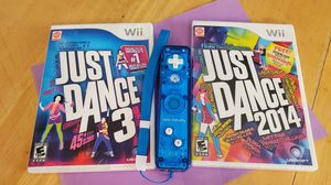 Wii Games - Just Dance & Rock Candy Remote for Sale in Mesa, AZ