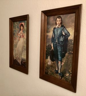 Vintage European artwork, The Blue Boy and Pinkie, set of 2, Beautiful Large Frames for Sale in Nashville, TN