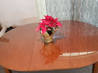 Wood Dining Table With Custom Glass Piece for Sale in Monterey Park,  CA