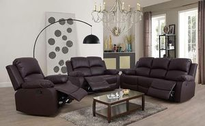 BRAND NEW RECLINERS SET FURNITURE COUCH IN ORIGINAL BOX for Sale in Ontario, CA