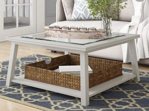 "White coffee table 36""x 36""x 18"" for Sale in Washington, DC"