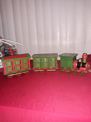 Christmas decoration wood train 5 inch H and 2 ft. long for Sale in Westminster, CA