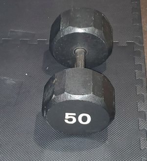 Single dumbbells, 50 pounds, pick up only. for Sale in Alhambra, CA