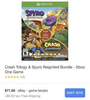 Crash trilogy and Spyro reignited bundle for Sale in Las Vegas, NV