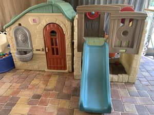 Playhouse , Climber and Slide - kids outdoor toys - step 2 - little tikes for Sale in Tamarac, FL