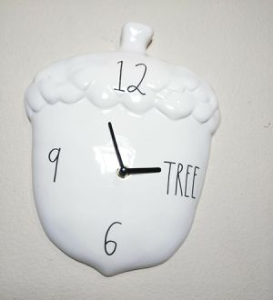 BRAND NEW Rae Dunn 2020 Fall Acorn Shaped Wall Clock Farmhouse Home Decor for Sale in Florissant, MO
