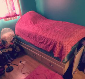 Twin bed frame with mattress for Sale in Schaumburg, IL