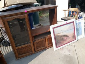 Entertainment Center and Small book shelf for Sale in Tulare, CA