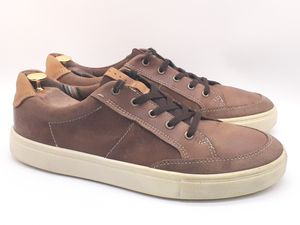ECCO Brown Leather Lace Up Walking Comfort Sneakers Shoes Mens Size EUR 46/US 14 for Sale in Hayward, CA