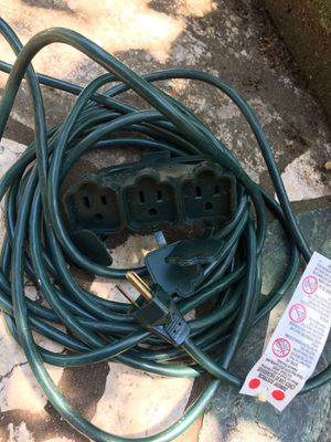25 ft. 3- socket extension cord for Sale in Washington, DC