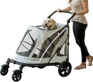 : PET GEAR NO-ZIP STROLLER, PUSH BUTTON ZIPPERLESS DUAL ENTRY, FOR SINGLE OR MULTIPLE DOGS/CATS, PET CAN EASILY WALK IN/OUT, NO NEED TO LIFT PET for Sale in Los Angeles, CA