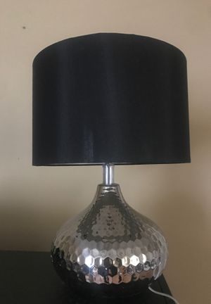 Lamp black with mirror like base silver for Sale in Orlando, FL