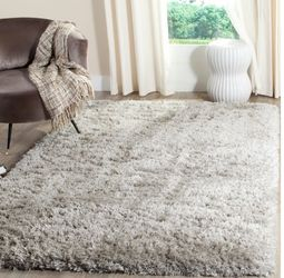 "Brand New 6'7""x 9'2"" Soft Shag Gray Rug Plush for Sale in Duncan,  SC"