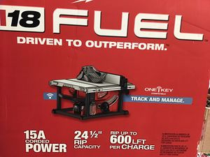 M18 FUEL ONE-KEY 18-Volt Lithium-Ion Brushless Cordless 8-1/4 in. Table Saw (Tool-Only for Sale in Anaheim, CA