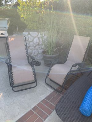 Pair of zero gravity chairs for Sale in Orange, CA