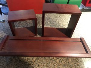 3 piece wall shelves/box's for Sale in Plainfield, IL