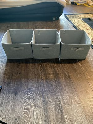 Three grey fold up storage containers for Sale in Los Angeles, CA