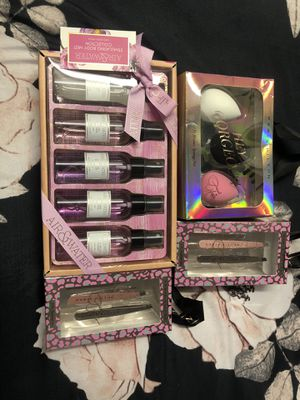 Value Bundle. includes 2 sets of tweezers, 1-3pk of beauty blenders and 1 - 6pcs stimulating body mist. for Sale in Fontana, CA