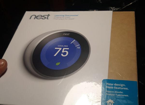 Nest new unopened self learning thermostat app controlled