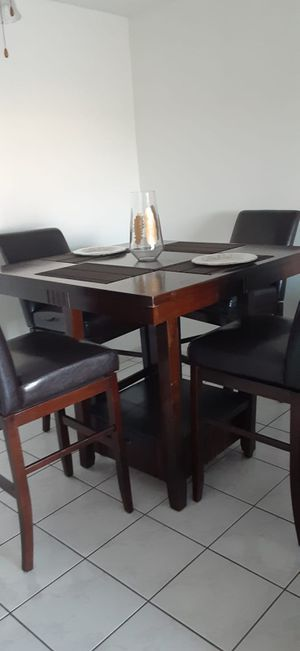 Wood Dining Table and 4 chairs for sale for Sale in Miami, FL